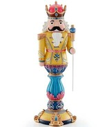 "Lenox Merry and Bright Gold Nutcracker Figurine 14.5""H #889900 New In Box - $194.90"