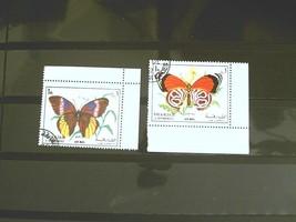 Yemen Set of 2 Stamps MINT - Butterflies 1972 - MNH Free Shipping # S3008 - $1.68