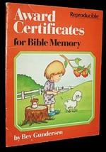 Award certificates for Bible memory [Jan 01, 1989] Gundersen, Bev - $9.95