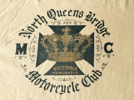 North Queens Bridge Victoria Motorcycle Club Lrg Lucky Brand - $12.82