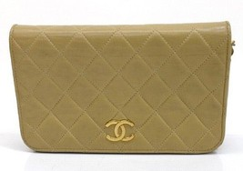 AUTHENTIC CHANEL Lambskin Leather Mini Matelass... - $630.00