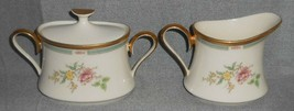 Lenox Morning Blossom Pattern Creamer And Sugar w/Lid Set Made In Usa - $128.69
