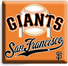 SF SUN FRANCISCO GIANTS MLB TEAM LOGO DOUBLE LIGHT SWITCH WALL PLATE COV... - $10.79