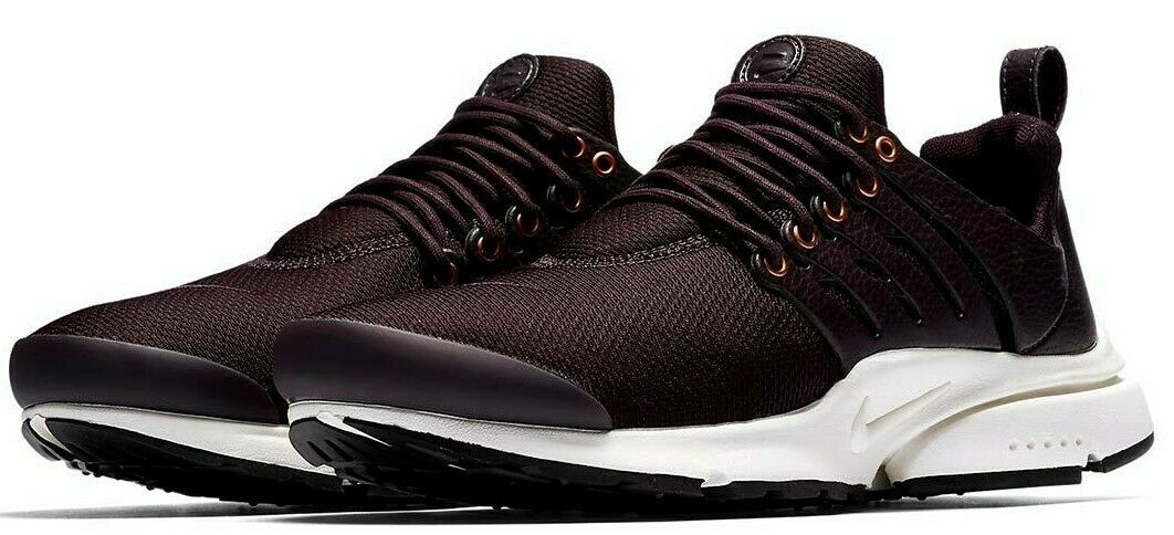 NIKE AIR PRESTO PREMIUM SHOES BURGUNDY/WHITE SIZE 12 BRAND NEW (848141-600)