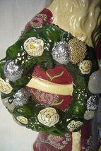 Vaillancourt Folk Art Plum Father Christmas Signed Judi image 4