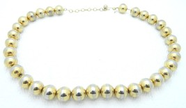 VTG Gold Toned SARAH COVentry Signed Metal Bead Beaded Choker Necklace - $9.90