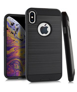 "For iPhone Xs Max 6.5"" Phone Case Slim Brushed Hybrid Hard TPU Cover - $7.73"