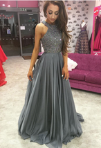 Beaded Prom Dresses,Prom Dresses ,Evening Gowns,Long Formal Dress,Party ... - $179.00