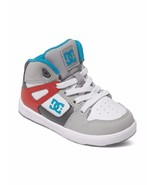 888327402147DC TODDLER BOYS REBOUND UL SKATEBOARDING SHOES GREY RED WHIT... - $26.59