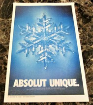 ABSOLUT UNIQUE Canadian Vodka Ad LARGE NEWSPAPER PAGE 2001 HARD TO FIND! - $9.99