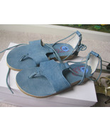 BIG BUDDHA BLUE SANDALS  WRAP LEG & TIE SZ 6.5 NWOB - $16.33