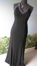 BLONDIE NITES FORMAL BLACK HALTER DRESS SZ 9 PRE-OWNED - $64.28