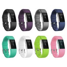 2 Pack Zodaca Wristband w/Metal Buckle Clasp For Fitbit Charge 2 Light Pink - $22.00