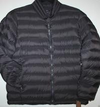 GH Bass NWT Men's L Dark Charcoal Gray Down Puffer Jacket Coat - Weighs ... - $83.59