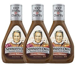 Newman's Own Creamy Balsamic Salad Dressing Pack of 3 16 oz Bottles