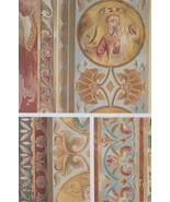 CHURCH PAINTINGS 12th C France Saint Quiriace - 1888 COLOR Litho Print - $21.60