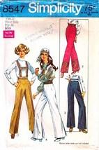 1969 Misses' PANTS & SUSPENDERS Pattern 8547-s Size 12 - Complete - $9.99