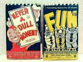 1946 & 1952 Leister Game Company Never A Dull Moment & FUN Party Game Ta... - $20.00