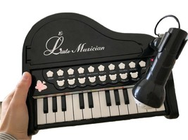 World Distribution Kids Grand Piano with Microphone Melody Musical Toy (Black) image 2