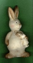 CERAMIC BUNNY RABBIT MOM WITH BABY - $8.00