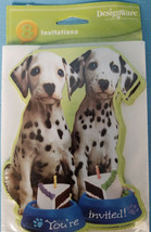 Dalmatian Dalmation Puppy Dog Invitations 8 Notes & Envelopes You're Invited  - $9.25