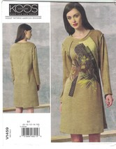 Vogue 1459 Koos Van Den Akker Appliqued Knit Jersey Dress Pattern Misses... - $16.48