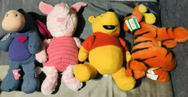 Lot/4 Disney Store Winnie The Pooh & Friends Stuffed Collectible Plush Lot - $99.00