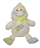 Goffa Int'l Corp Cream Off White Duck Gigham Patches Heart Cross Plush L... - $32.55