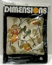 1977 Dimensions Needlepoint Kit. Persian Tapestry #2027 Finches 14 x 14 ... - $46.54