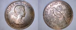 1964 New Zealand 1 Penny World Coin - Tui Bird - $6.75