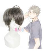 Haikyuu Sugawara Koushi Grey Gray Short Fluffy Cosplay Wig Men's Fashion... - $24.59