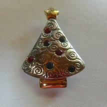 Lia Sophia Two-tone Dark Pink, Blue & Purple Rhinestone Christmas Tree B... - $14.84