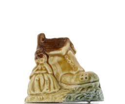 Wade Whimsie Miniature Porcelain Old Woman Who Lived in a Shoe image 1