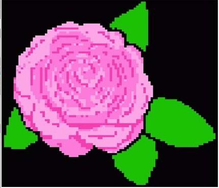 7 Flowers Hand Knit Color Graphs or Machine Knit DAK