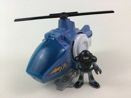 Imaginext Talking Light up Helicopter 17 with Pilot Figure Toy w Batteri... - $19.55