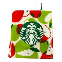 Starbucks HTF Ceramic Gift Card Holder Green Red Apples Siren NWT Teache... - $14.84
