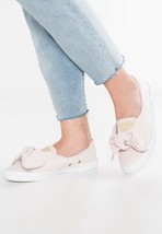 CONVERSE ALL STAR Chuck Taylor Womens 8 Blush Pink Bow Knot Slip On - $14.84