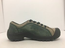 Keen Briggs Green Tan Leather Women's Lace Up Comfort Walking Shoes Size 5 M image 6