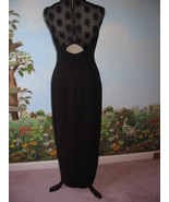 LIZ CLAIBORNE NIGHT BLACK FORMAL COCKTAIL EVENING DRESS SIZE 6 PRE-OWNED - $45.50
