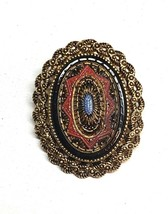 """Vintage Sarah Coventry Gold Tone Multi-Color Enamel Brooch Pin 1.75"""" - $16.09"""