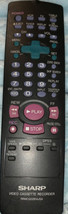 Oem Sharp Video Cassette Recorder Vcr Remote RRMCG1197AJSA Low $ - $11.23