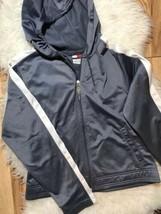 Tommy Hilfiger Vintage Sport Zip Up Sweater Hooded Top Size L - $48.51