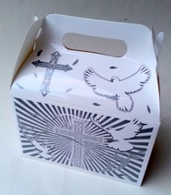 FIRST COMMUNION White Party Supplies BOXES Birthday BAPTISM GABLE x12 Re... - $15.79