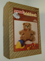 Teddy Bear Latch Hook Kit Sunset Designs Vintage Wall Hanging Crafts - $29.69