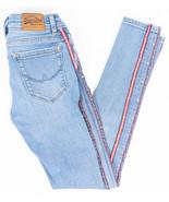 Superdry Cassie Skinny Stretch Womens Jeans Logo Trim Medium Wash Size 2... - $28.39