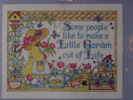 "Counted Cross Stitch Kit ""Little Garden"" 11""x 14"" - $9.99"