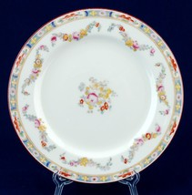 """Minton A4807 Rose 8.75"""" Salad Lunch Plate 1920s Hand Painted - $15.00"""