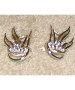 Vintage Costume Jewelry Silver & Gold tone Clip On Earrings - $4.95