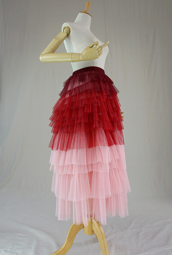 Tier long tulle skirt 3