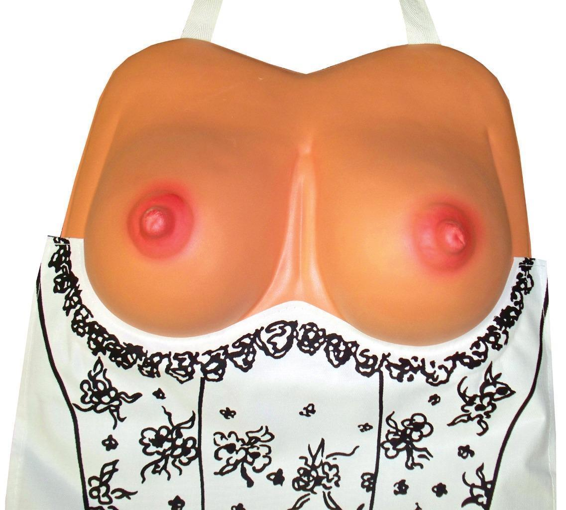 Boobs Prop Costume Apron BBQ Adult Funny Comical Unique Halloween Party BB251